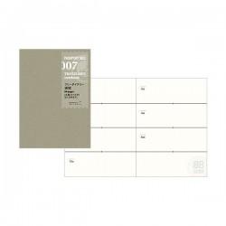 日本 MIDORI TRAVELER'S notebook PA SIZE#007 週間手帳