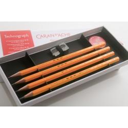 瑞士 CARAN D'ACHE (CDA) 卡達 100ANS 限量版 素描鉛筆組