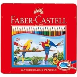 德國 Faber-Castell 輝柏 24色 水性色鉛筆-附水彩筆(115925)