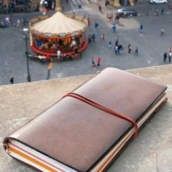 日本 MIDORI TRAVELER'S notebook 真皮兩色 旅人筆記本(大)