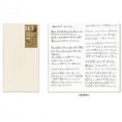 日本 MIDORI TRAVELER'S notebook #013補充包 輕量紙