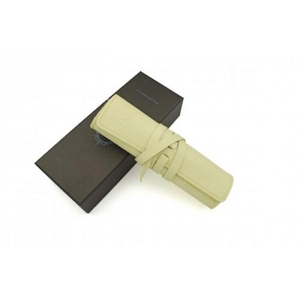 義大利 Manufactus 真皮 4支裝 筆袋(495CA奶油黃)