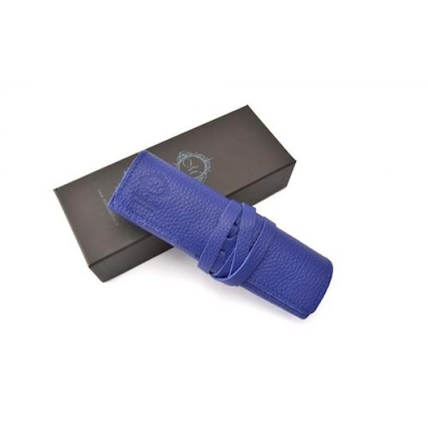 義大利 Manufactus 真皮 4支裝 筆袋(495SU藍)