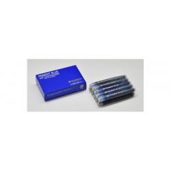 日本 Platinum 白金 防水 10支裝 豔藍 藍鉛 卡式墨水